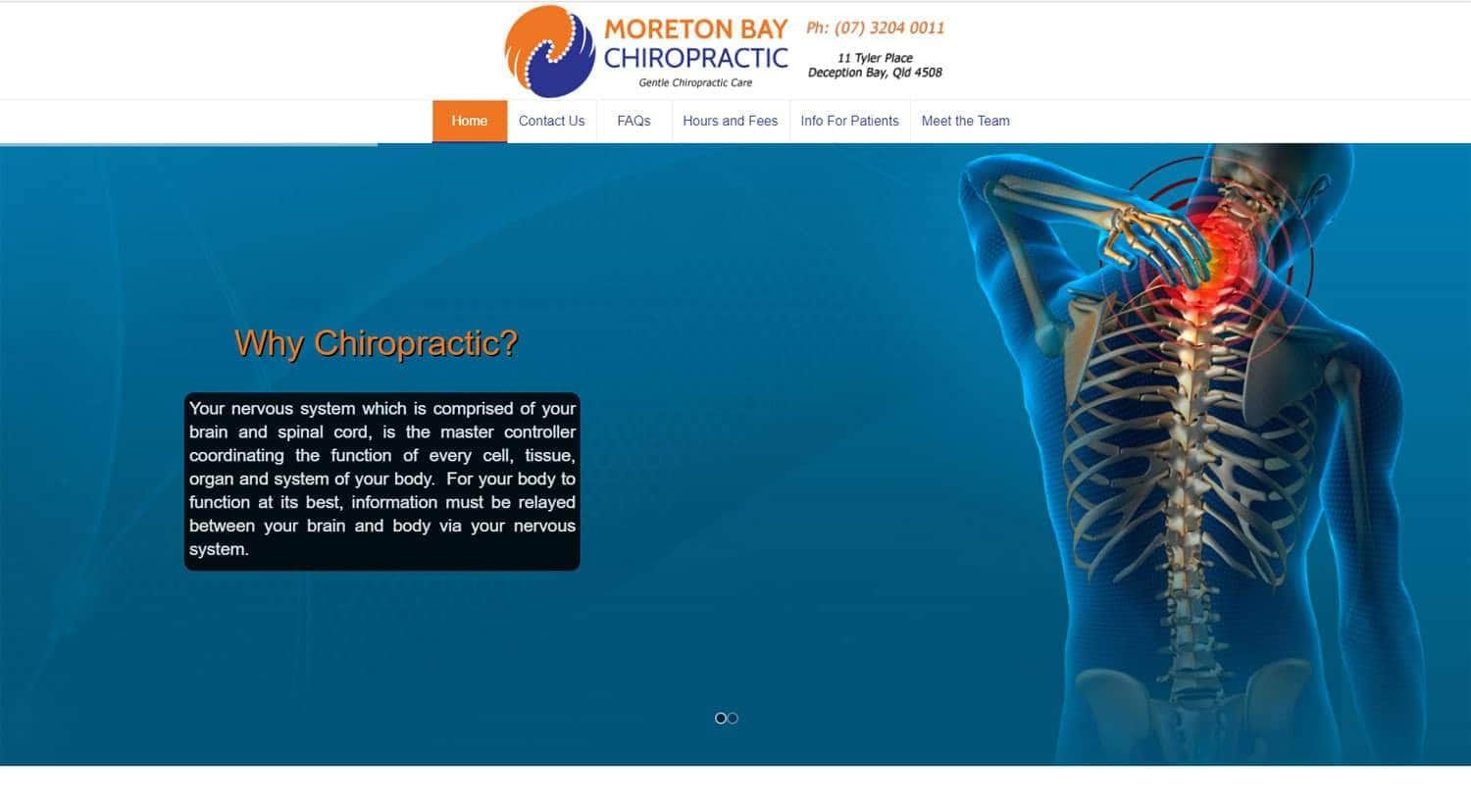 Moreton Bay Chiropractic Home Page