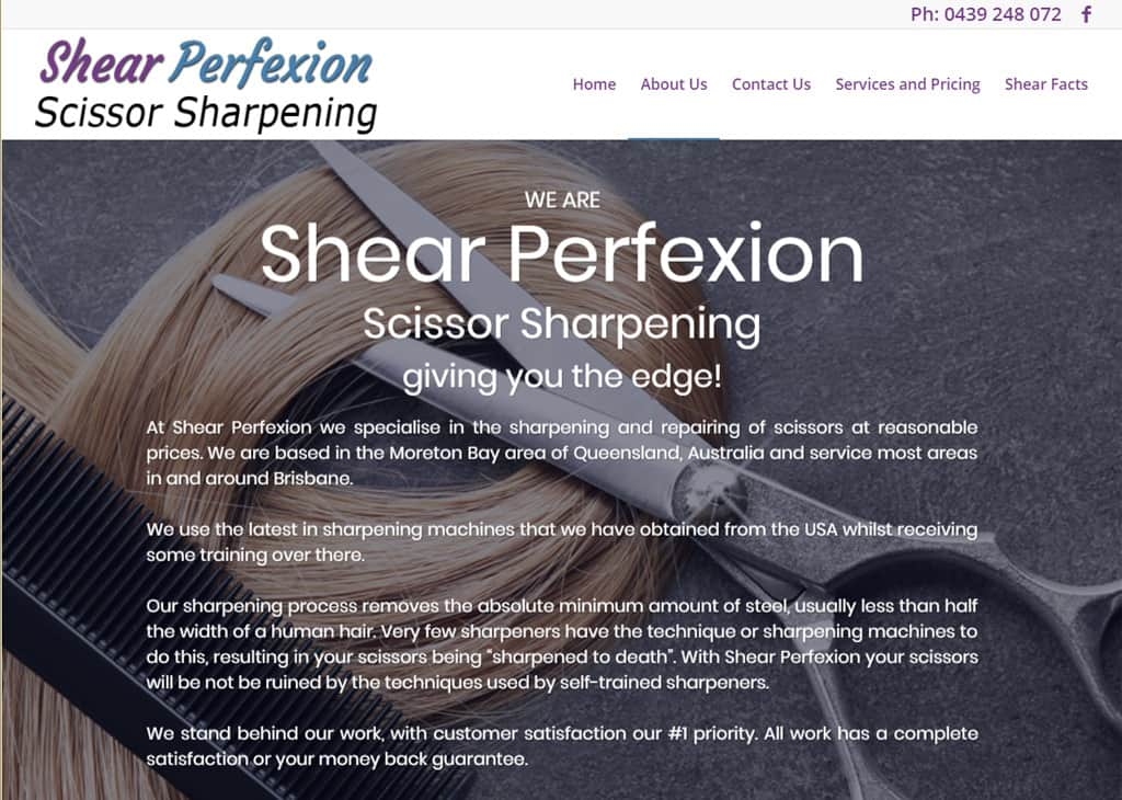 Shear Perfexion Scissor Sharpening Brisbane