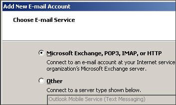 Outlook 2007 Mail Type