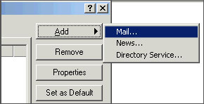 Outlook Express add Mail
