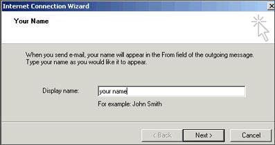 Outlook Express Name