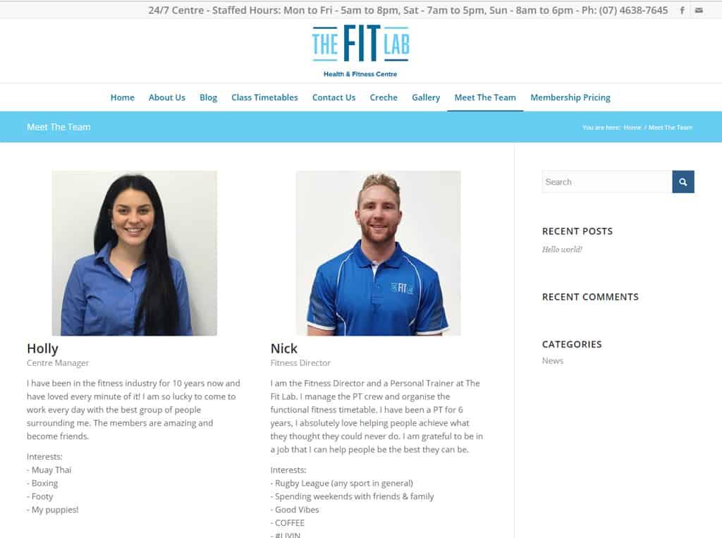 Fit Lab Meet The Team